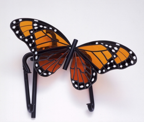 glass sculpture of a butterfly by liz craft