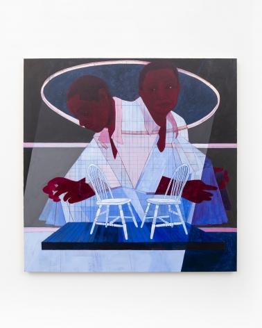 Pamela Phatsimo Sunstrum, Rostrum, 2019, Pencil and acrylic on wood panel