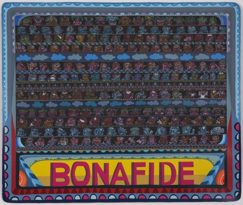 Bonafide, 2008, Acrylic and ink on paper
