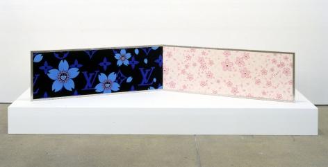 Cherry Blossoms Blooming, 2003, Yuzen folding screen