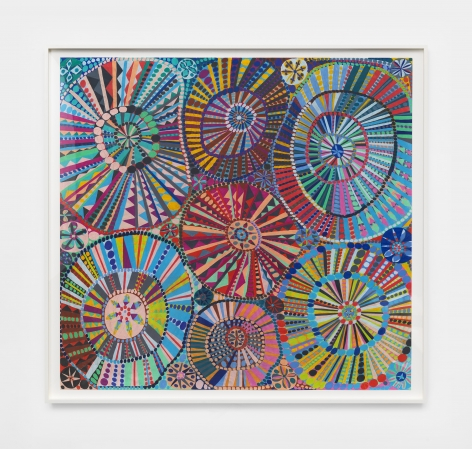 a colorful pencil on paper artwork by chicago based artist william j. o'brien
