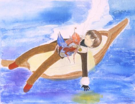 Mahomi Kunikata, Dish on Boat, 2004