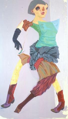 portrait of a woman dancing by yi chen