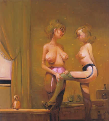 Lupe & Lola II, 2003, Oil on linen