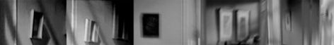 five blurry photographs of domestic interior by john waters