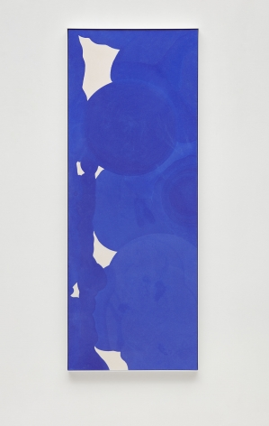 a blue and white painting by anthony pearson for sale at a nyc gallery