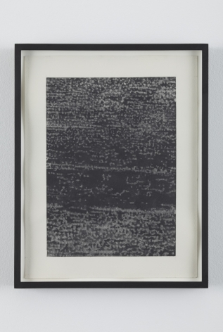 No Signal 3, 2010, Graphite on paper