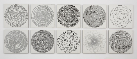 10 works with words in circular format by ferdinand kriwet