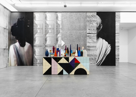 sculptural installation by Claudia Wieser at a contemporary art gallery