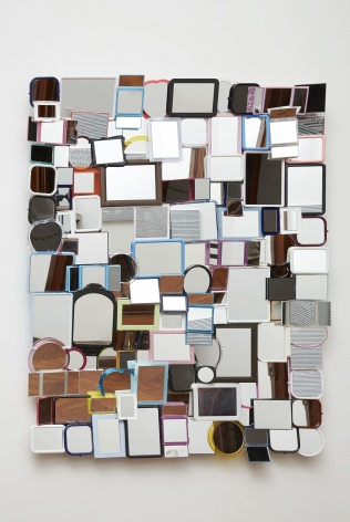 Untitled (Mirror III), 2009, Hand mirrors with aluminum frame