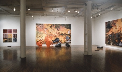 an installation view of Jennifer Bartlett's artwork in a gallery for purchase