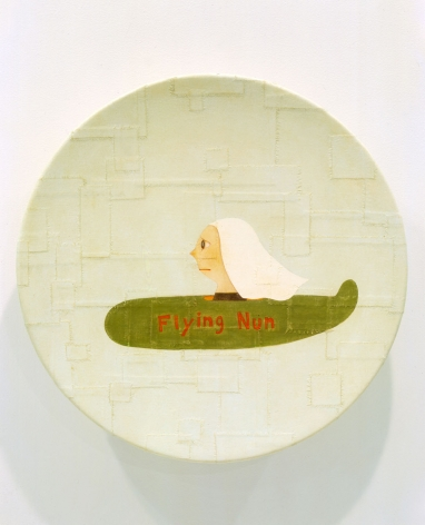 Flying Nun, 2002, crylic on canvas over fiberglass