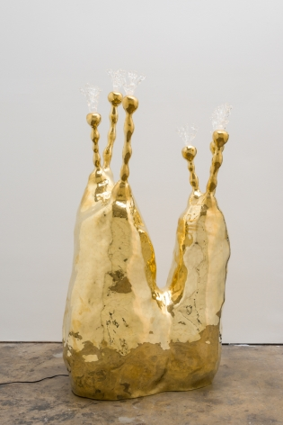 A brass sculpture or lamp by the Haas Brothers for sale in NYC