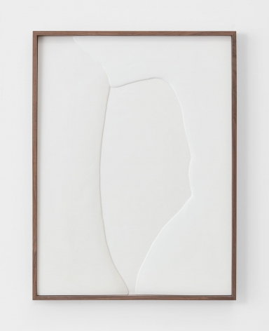 Untitled (Plaster Positive), 2015, Hydrocal in walnut frame