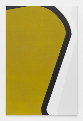 a painting by Svenja Deininger in yellow, black and white