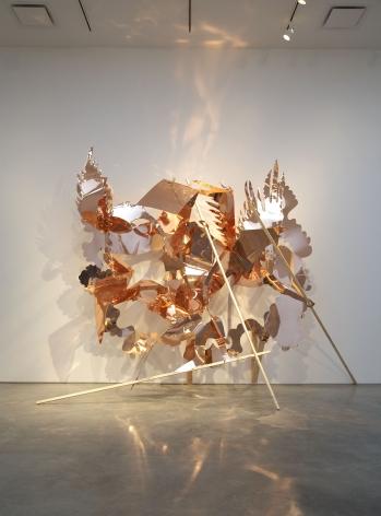large abstract copper sculpture by rachel feinstein
