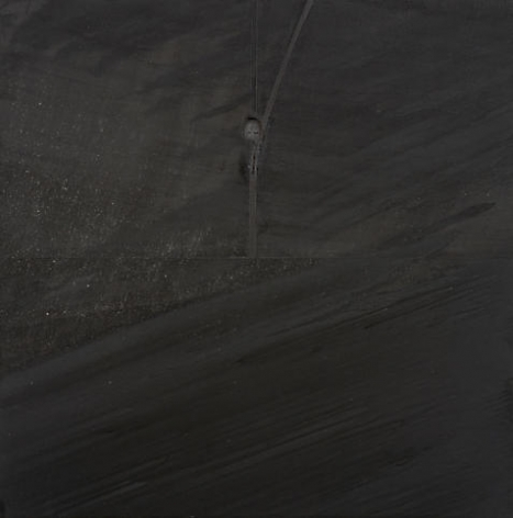 Dead Day I, 2008, Acrylic on burned linen
