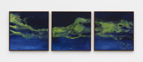 an abstract fresco triptych by thiago rocha pitta for sale in new york city