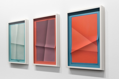a series of prints by john houck on view at a contemporary art gallery in New York