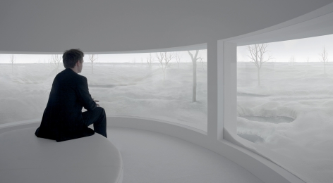 Location (6), 2008, Sculptural installation, mixed media, mist and artificial light