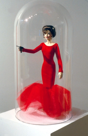A Barbie doll by John Waters in a contemporary art gallery