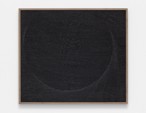 minimalist etched plaster artwork in all black by anthony pearson