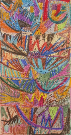 an abstract, colorful painting by artist william j. o'brien