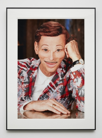 An edited self portrait of John Waters for sale at a gallery in New York