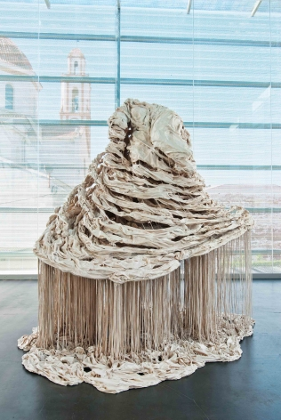 a polymer gypsum, fiberglass and steel sculpture by Diana Al-Hadid