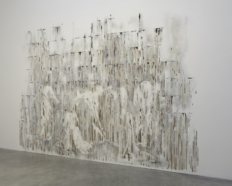 Divided Line, 2012, polymer gypsum, fiberglass, gypsum board, plaster, wood, steel, paint