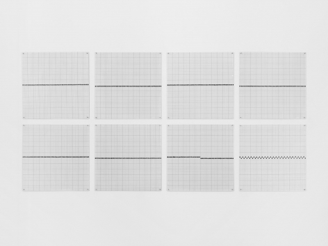 a set of grids by the female artist Jennifer Bartlett