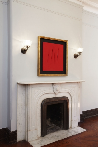 Lucio Fontana: Paintings 1956 - 1968(Installation View), Marianne Boesky Gallery, Uptown, 2010