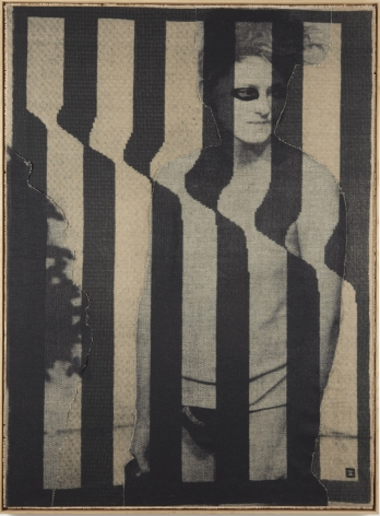 striped portrait of a man