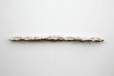 a fiber sculpture by Bjorn Braun at a Chelsea art gallery