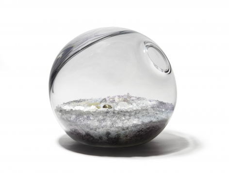 orb with crystals by paula hayes