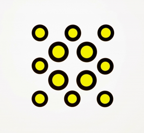 yellow dots with black outline by neil campbell