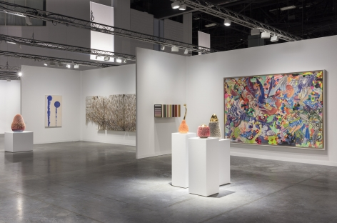 New York gallery display on view at Art Basel art fair