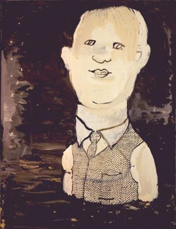 man in a polka dot vest and tie by hannah van bart