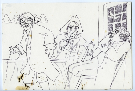 Wassail Suite #2, 1996, Ink on paper