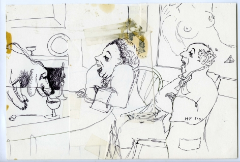 Wassail Suite #3, 1996, Ink on paper