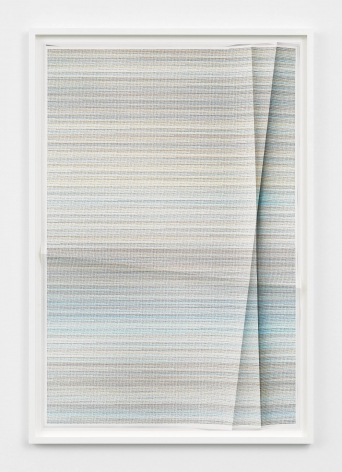 a creased or folded print made by the artist John Houck