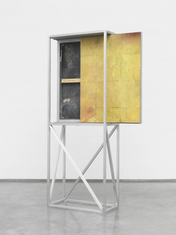 (painting cart), 2014, Oil and pigment on canvas in aluminum armature