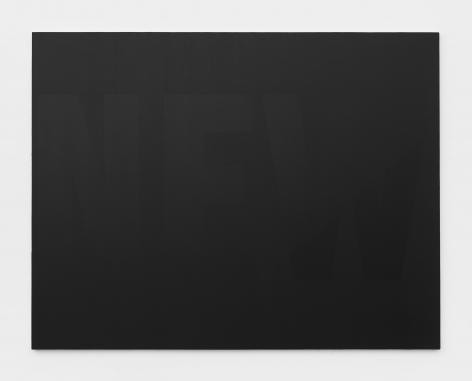 New, 2017 Valspar New Black Paint 4011-1 on canvas
