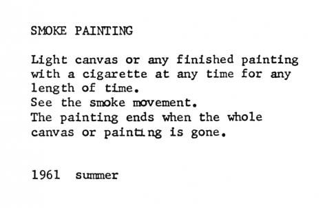 Yoko Ono, Smoke Painting, 1961/2012