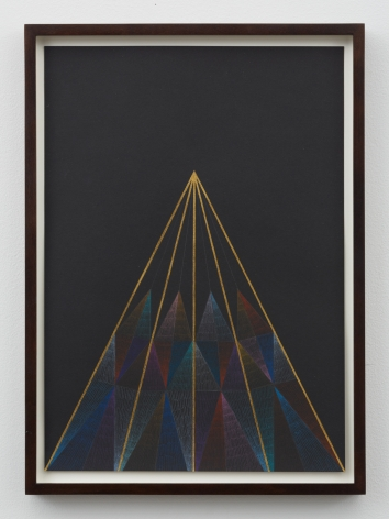 Untitled, 2012, Gold leaf, color pencil on paper