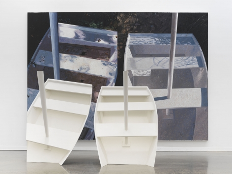 a sculptural artwork by Jennifer Bartlett on view in an exhibition