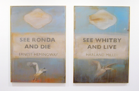 See Ronda and Die See Whitby and Live!, 2004 -2005, Oil on canvas