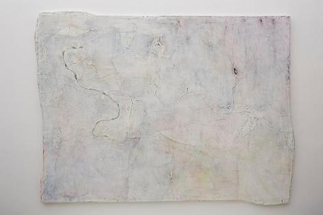 Nature Morte, 2013, Cotton scrim, twine, paper, ink and aluminum