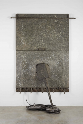 a sculpture of cloth and metal by italian modern artist salvatore scarpitta
