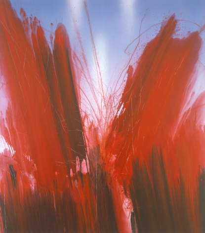 a red flood painitng by barnaby furnas as part of his flood series